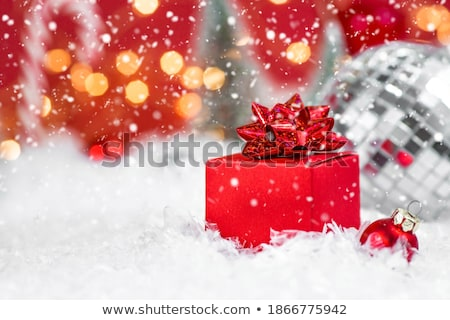 New year decoration objects and gift Box with magical lights on  Stock photo © sgursozlu