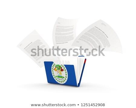 папке флаг Белиз файла изолированный белый Сток-фото © MikhailMishchenko