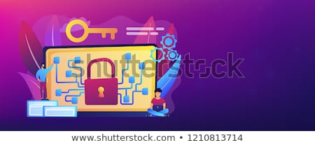 Cryptography and encryption concept banner header. Stock photo © RAStudio
