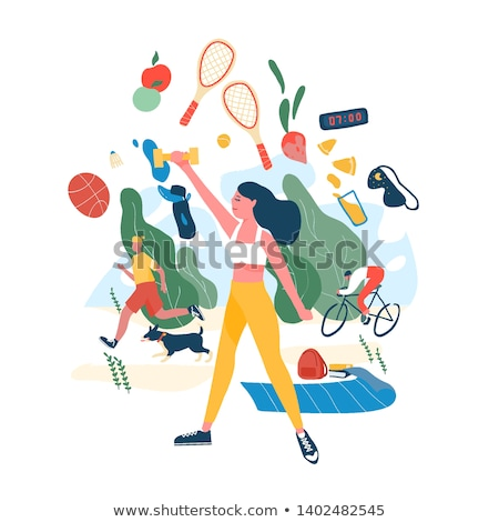 man healthy lifestyle of male vector illustration stock photo © robuart