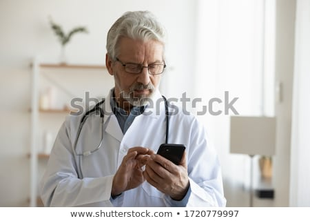 help information. male doctor. Medicine and health Stock photo © rogistok