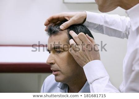 Orvos megvizsgál haj közelkép női fésű Stock fotó © AndreyPopov