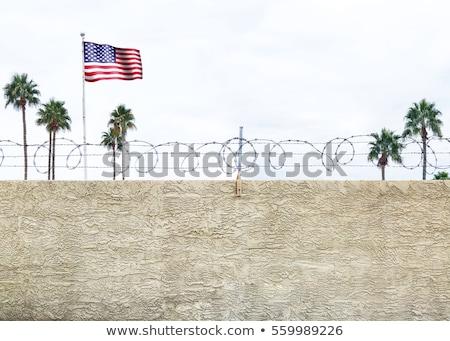 Stock fotó: United States Border Wall