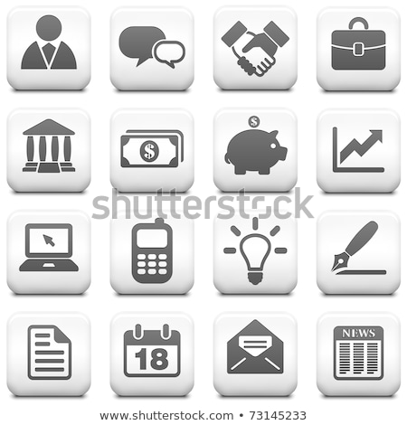 graph icon simple graph vector icon in square vector illustration isolated on white background stock photo © kyryloff