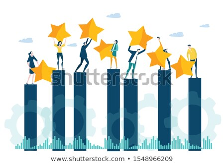 successful businessman with golden stars vector illustration stock photo © rastudio