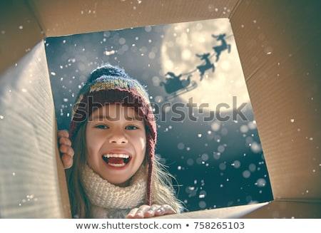 boldog · mikulás · ajándékok · rajz · mikulás · tart - stock fotó © krisdog