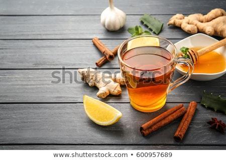 Limão gengibre mel naturalismo tosse gripe Foto stock © furmanphoto