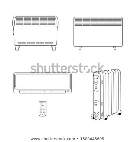 preto · quente · Óleo · aquecedor · conjunto · ilustração - foto stock © Blue_daemon