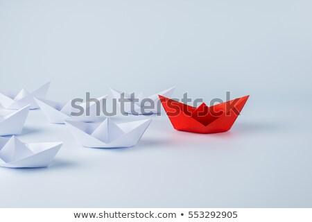 Business leiderschap concurrentie tegenstander strijd strategie Stockfoto © Lightsource