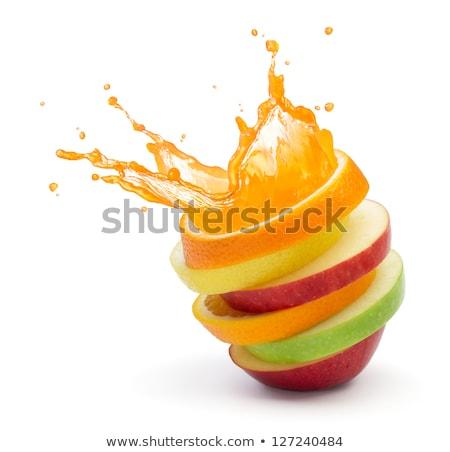 Meyve suyu damla organik doğal tatlı üretmek Stok fotoğraf © Lightsource