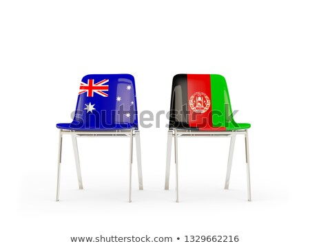 Two chairs with flags of Australia and afghanistan Stock photo © MikhailMishchenko