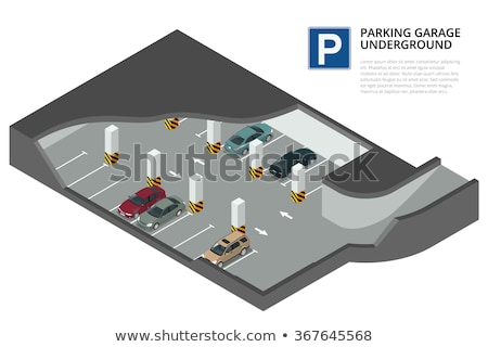 Сток-фото: Vector Isometric Underground Car Parking Garage