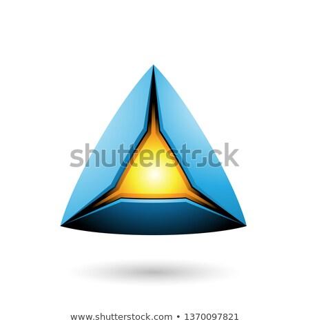 Azul pirámide núcleo vector ilustración Foto stock © cidepix