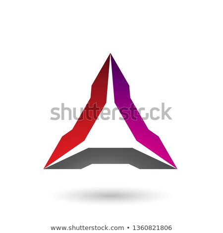 Red Magenta and Black Spiked Triangle Vector Illustration Stock photo © cidepix