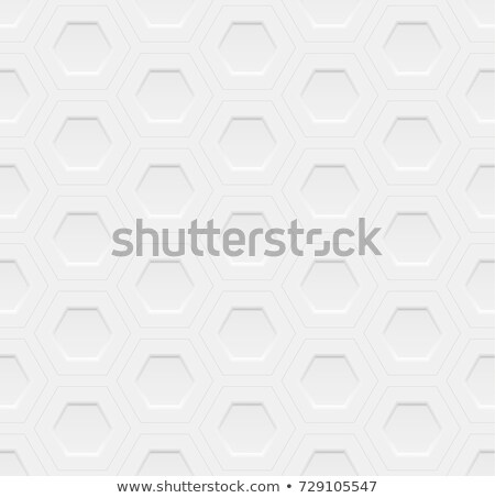 Abstract embossing volume white texture, vector seamless pattern. Depressed round shape background Stock photo © Iaroslava