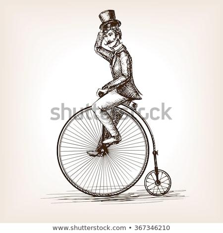 bicycle with big wheel Stock photo © adrenalina