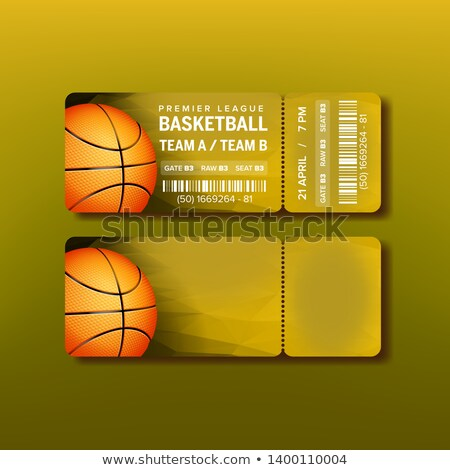 Ticket On Premier League Of Basketball Game Vector Stock photo © pikepicture