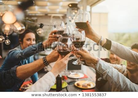 Toasting by dinner Stock photo © pressmaster