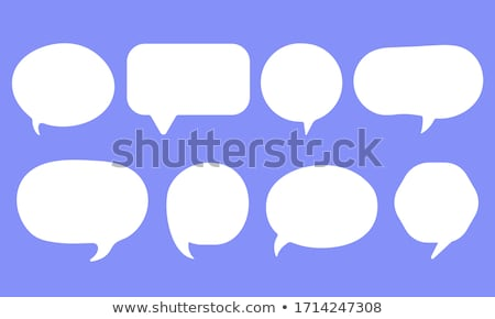Paper speech bubbles vector set Stock photo © Sonya_illustrations