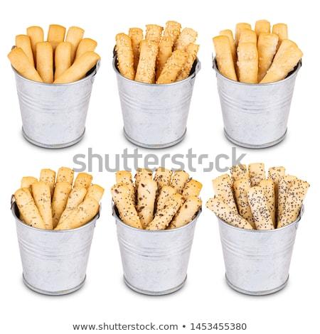 Croccante pane metal ciotola nero alimentare Foto d'archivio © grafvision
