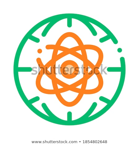 Atom Planet Earth Problem Vector Thin Line Icon Stock photo © pikepicture