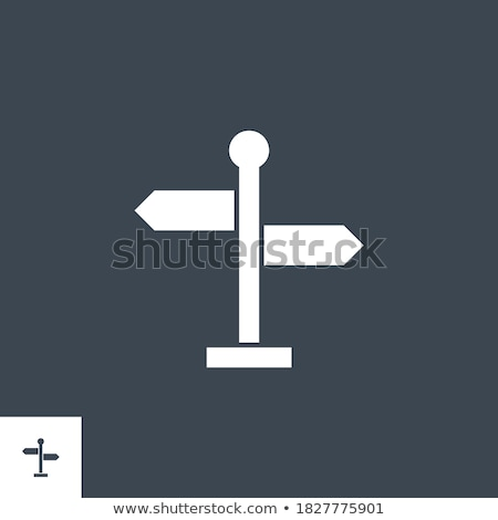 Signpost related vector glyph icon. Stock photo © smoki