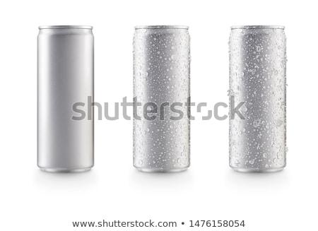 Alluminio bianco illustrazione arte bere Foto d'archivio © bluering