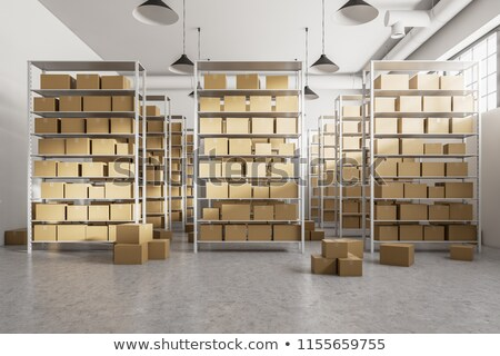Warehouse Shelves Front  Stock photo © albund