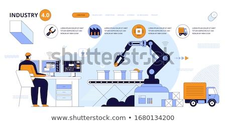 AI in social media concept landing page. Stock photo © RAStudio