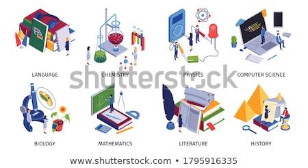 Számítás laboratórium matematika fizika vektor matematika Stock fotó © robuart