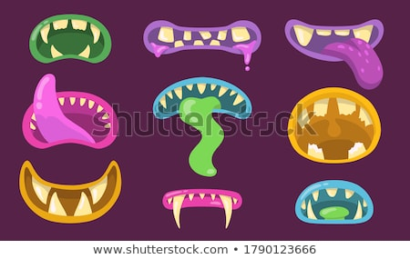Purple Monster Mouth Stock photo © Lightsource