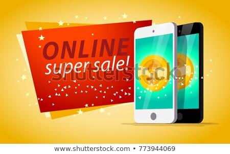 vecteur · ligne · mobiles · casino · app · jeux - photo stock © robuart