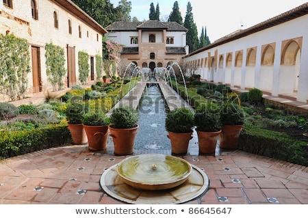 çeşme · alhambra · saray · İspanya · mimari - stok fotoğraf © borisb17
