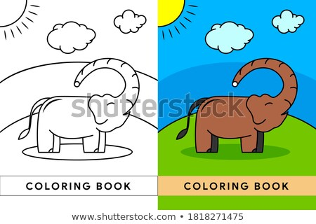 desen · animat · elefantii · ilustrare · animal - imagine de stoc © izakowski