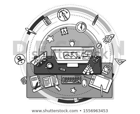 Detailed promo poster illustrating the design profession. Stock photo © ConceptCafe