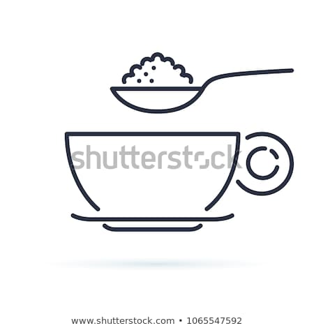 Container with Sugar and Spoon Teaspoon Vector Stock photo © robuart