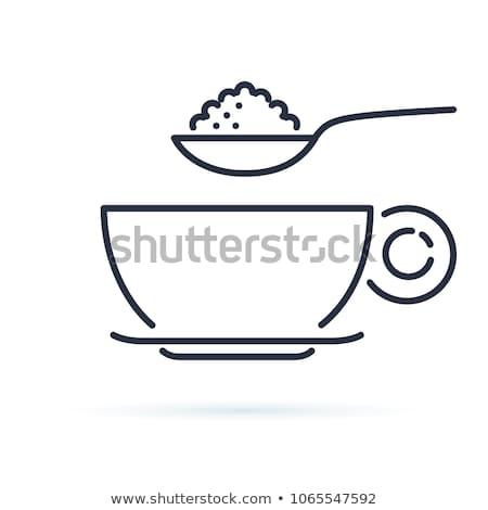 Konteyner şeker kaşık çay kaşığı vektör Metal Stok fotoğraf © robuart