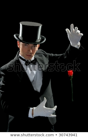 performing with high hat  and red rose  Stock photo © vladacanon