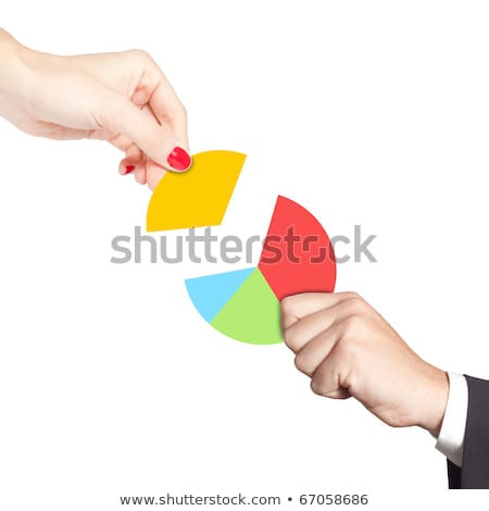 Businessman Placing Last Piece Into Pie Chart Stock photo © AndreyPopov