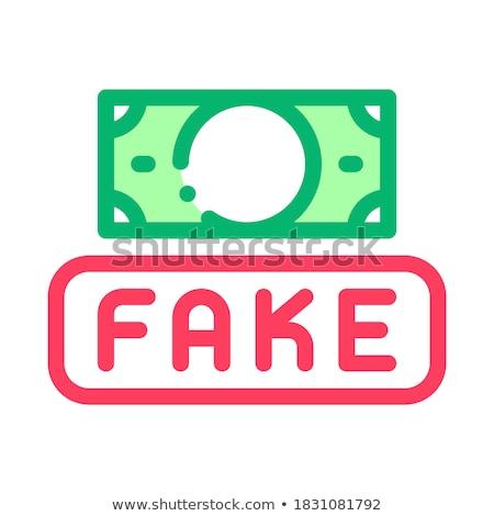 поддельный деньги валюта икона вектора Сток-фото © pikepicture