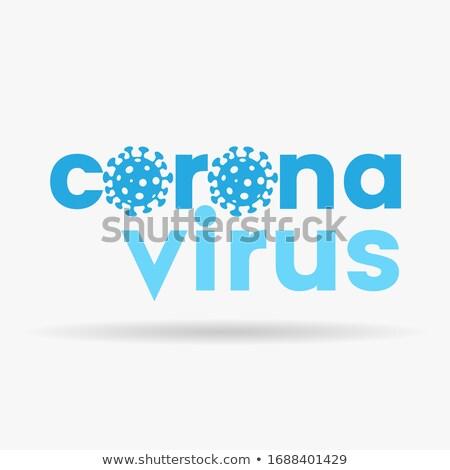 Coronavirüs düşük durum mavi harfler simgeler Stok fotoğraf © cidepix
