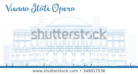 Contorno Vienna Opera business turismo punto di riferimento Foto d'archivio © ShustrikS