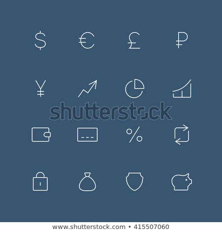 transfer of different currencies icon vector outline illustration Stock photo © pikepicture