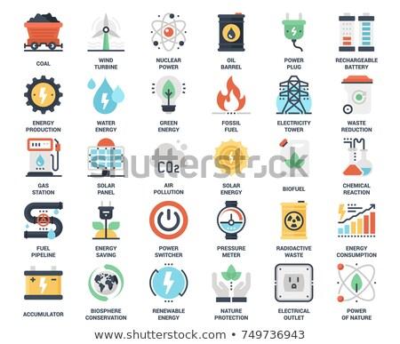 Levegő szennyezés energia gyártás közzététel kár Stock fotó © Kotenko