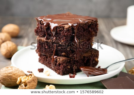 Walnut and chocolate cake Stock photo © olira