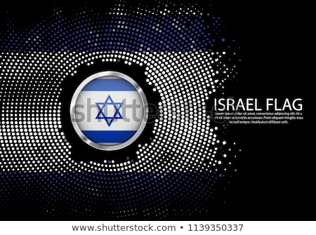 Metal odznakę ikona Izrael banderą Zdjęcia stock © evgeny89