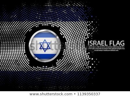 Metal rozet ikon İsrail bayrak parlak Stok fotoğraf © evgeny89