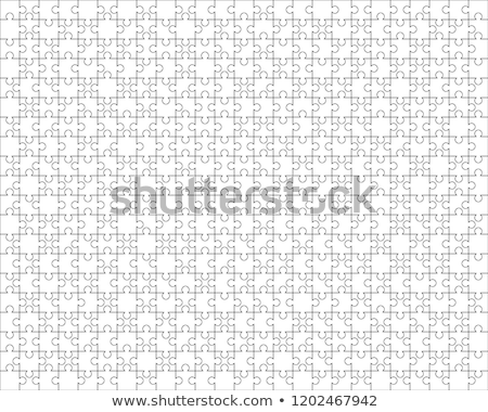 500 white puzzles pieces arranged in a 25x20 rectangle shape. Jigsaw Puzzle template ready for print Stock photo © evgeny89