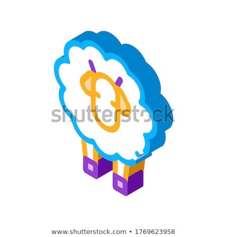 овец ягненка животного изометрический икона вектора Сток-фото © pikepicture
