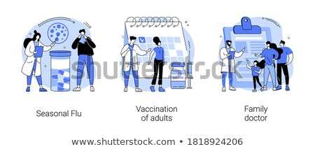 Immunization schedule abstract concept vector illustration. Stock photo © RAStudio